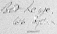 The signature of Flight Lieutenant R G (Bob) Large, DFC, Legion d Honneur (deceased)