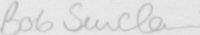 The signature of Squadron Leader Bob Sinclair