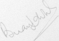 The signature of Brian Labone (deceased)