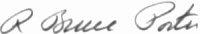 The signature of Colonel Bruce Porter USMC (deceased)