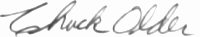 The signature of Colonel Charles Older (deceased)