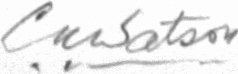 The signature of Charles A W Watson (deceased)