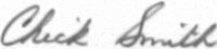 The signature of Captain Armistead Chick Smith (deceased)