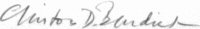 The signature of Captain Clinton DeWitt Burdick (deceased)