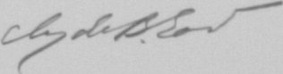 The signature of Lieutenant Colonel Clyde B East (deceased)