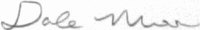 The signature of Master Sergeant Dale Moon