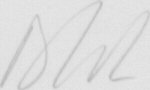 The signature of Flying Officer Dave Wilson