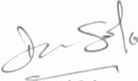 The signature of David Sole