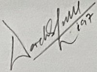 The signature of Flight Lieutenant Derek Lovell