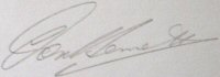 The signature of Air Vice Marshall Donald Bennett (deceased)