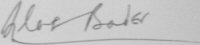 The signature of Group Captain Sir Douglas Bader CBE, DSO*, DFC* (deceased)
