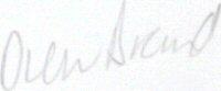 The signature of Drew Brand