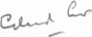 The signature of Air Vice Marshal Edward Crew CB DSO DFC (deceased)
