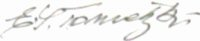 The signature of Gefreiter Emanuel Tometzki