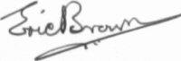 The signature of Captain Eric Brown CBE DFC AFC RN