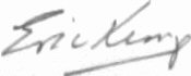 The signature of Flt Lt Eric Kemp DFC (deceased)