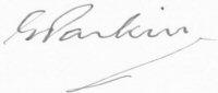The signature of Flt Lt Eric Parkin (deceased)
