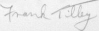 The signature of Warrant Officer F L Tilley