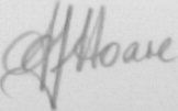 The signature of Group Captain Frank Hoare
