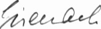 The signature of Franz Eisenach (deceased)