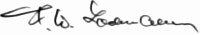 The signature of Unteroffizier Dr Franz-Wilhelm Lochmann