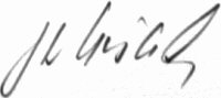 The signature of Oberleutnant Franz Woidich (deceased)