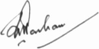 The signature of Sir Frederick Parham (deceased)