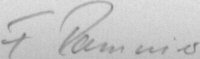 The signature of Fredi Ramseier