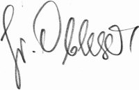 The signature of Friedrich Obleser (deceased)