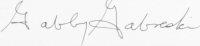 The signature of Colonel Gabby Gabreski (deceased)