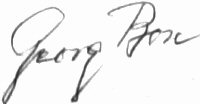 The signature of Georg Bose (deceased)