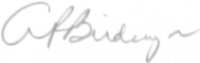 The signature of Colonel George P Birdsong (deceased)