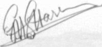 The signature of Flt Lt George Harris DFC