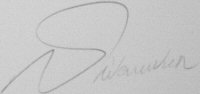 The signature of Wing Commander George W Swanwick (deceased)