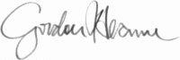 The signature of Corporal Gordon Hearne