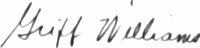 The signature of Major Griffith P Williams (deceased)
