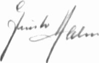 The signature of Leutnant Gunther Halm