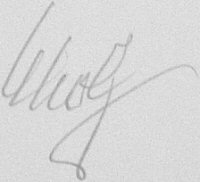 The signature of Oberstleutnant Gunther Scholz (deceased)