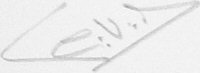 The signature of G V Tyack MBE