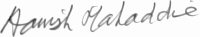 The signature of Group Captain Hamish Mahaddie DSO DFC (deceased)