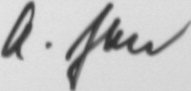 The signature of Oberstleutnant Hans-Joachim Jabs (deceased)