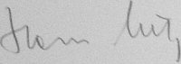 The signature of Oberstleutnant Hans Lutz (deceased)