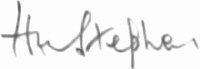 The signature of Wing Commander Harbourne Stephen CBE, DSO, DFC (deceased)