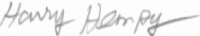 The signature of Cpt Harry M Hempy (deceased)