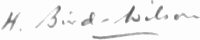 The signature of Air Vice-Marshall H. Bird-Wilson. CBE.DSO.DFC.AFC. (BAR) (deceased)