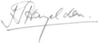 The signature of Squadron Leader Hedley Hazelden DFC* (deceased)
