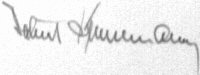 Photograph of the signature of Oberstleutnant Helmut Bennemann (deceased)