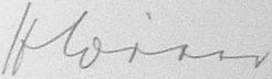 The signature of Korveitenkapitan Helmut Witte (deceased)