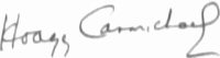 The signature of Hoagy Carmichael (deceased)