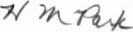 The signature of Flt Lt Howard M Park